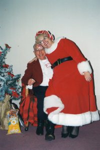 Tim with Mrs. Claus