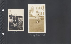 Aunt Irene at the hospital where she taught school. Uncle Pete in 1925.