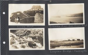 Crown Point on the Columbia River, and Longview Bridge, Washington, with Ernest Boyd in two of the photos.