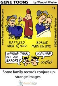 Some Family Records Conjure Up Strange Images (Genetoons Cartoon #19)