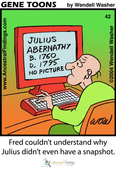 Fred Couldn't Understand Why Julius Didn't Even Have a Snapshot (Genetoons #42)