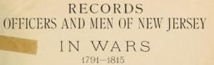 records muster rolls new jersey 1812
