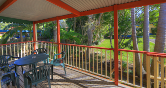 Spa Cabin verandah