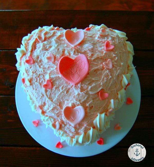 Valentine's Day Amaretto Heart Cake