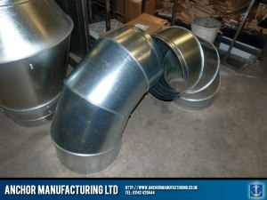 U bend extraction ducting.