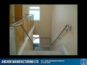 Balustrade in sheffield stainless steel.