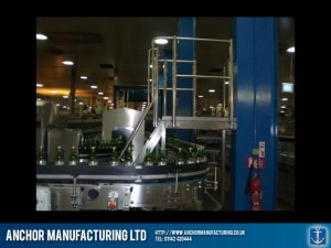 Factory balustrade and a steel platform floor.