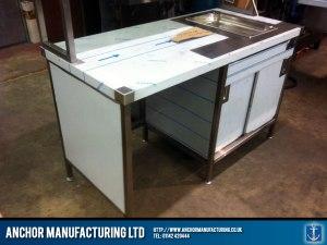 Hot cupboard made from Sheffield steel.