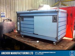 Hot cupboard fabrication process.