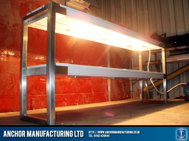 Heated Gantry in stainless steel.