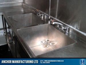 Restaurant kitchen sink installed.