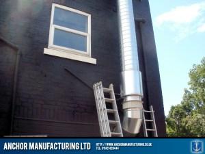 Woodman Inn - external galvanised ducting pre filter unit.
