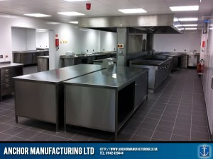 A stunning industrial kitchen fabrication.