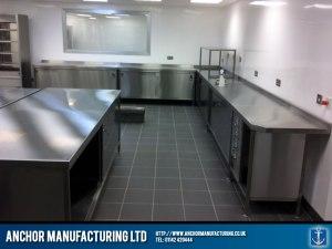 Sheffield stainless steel kitchen hot cupboards.