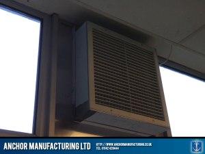 input air box installed via a window space.