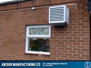 Pub kitchen canopy input air system.
