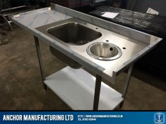 Butchers kitchen sink with basin