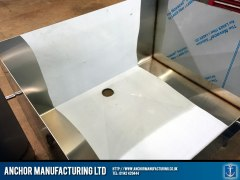 Fabricated steel sink shell