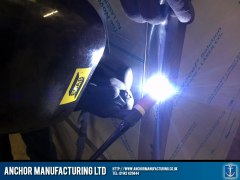 Chip shop counter tig weld