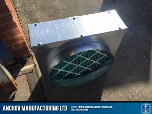 Fresh air kitchen canopy input box