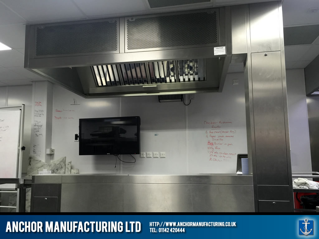 Industrial kitchen canopy kitchen canopy kitchen equipment fabrication anchor Kitchen design and fitting courses
