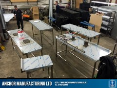 sheffield stainless steel wallbenches workshop