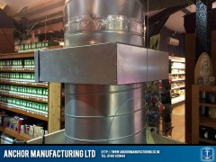 Air extraction ducting with carbon filter