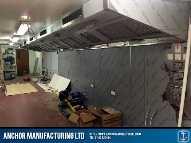Large kitchen canopy extraction unit