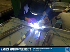 Steel table welding
