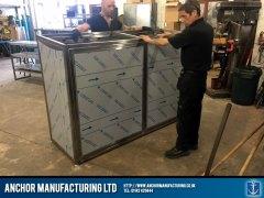 Sheffield stainless steel storage fabrication process