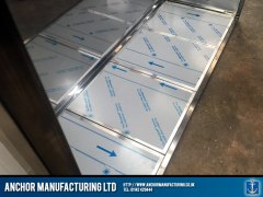 Sheffield stainless steel storage inside space detailed