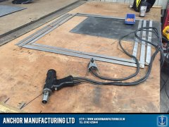 Air conditioning filter frame fabrication