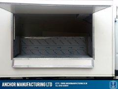 Fabricated display serving area butchers van