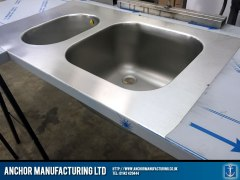 polished kitchen sink fabrication