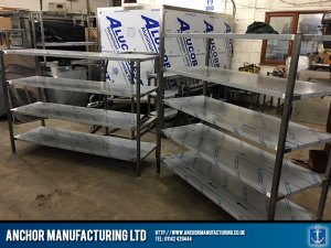 stainless shelving units