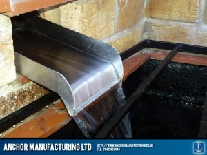 water slide in stainless steel