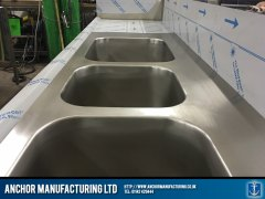 polished stainless steel sinks