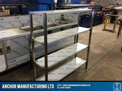 steel storage kitchen shelving