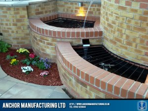 steel water slide feature
