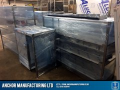 wrapped kitchen equipment delivery