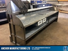 fish and chip shop counter fabricated