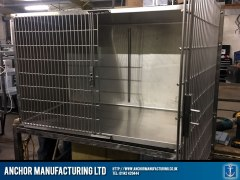 vets kennel large double door design open