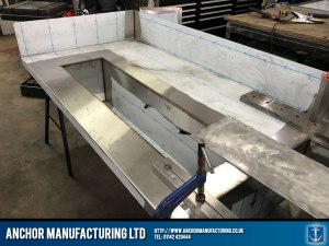 stainless steel sink fabrication welds