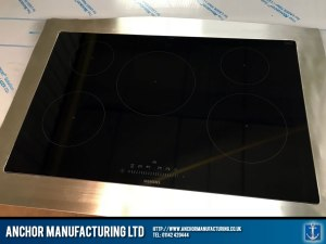 stainless steel kitchen worktop induction hob finished