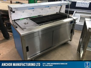 Contemporary hot cupboard buffet equipment rear