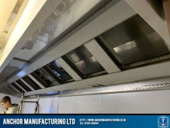 Stainless Steel Kitchen Extraction Canopy Installation