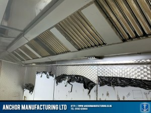 Stainless Steel Kitchen Extraction Canopy Restaurant installation cladding