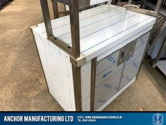 Sheffield Stainless steel hot cupboard angle