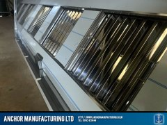 Sheffield Stainless steel medium sized air extraction canopy zoomed