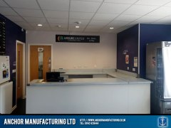 Stainless steel counter tops made for Thorncliffe football association in Ecclesfield, Sheffield